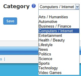 SocialAdr bookmark categories
