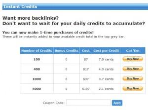 Instant Credits
