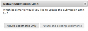 Default Submission Update Dialog