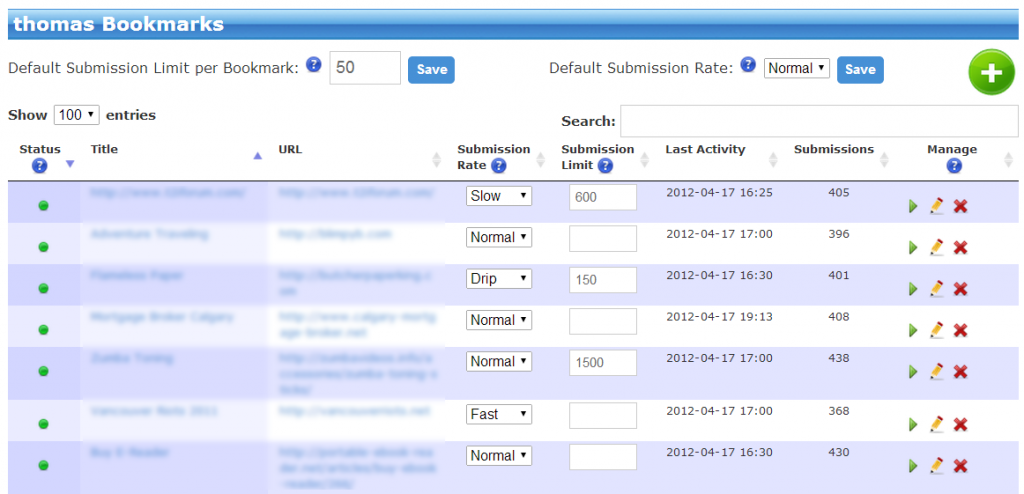 My Bookmarks - New Submission Control Fields