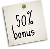 50 percent bonus