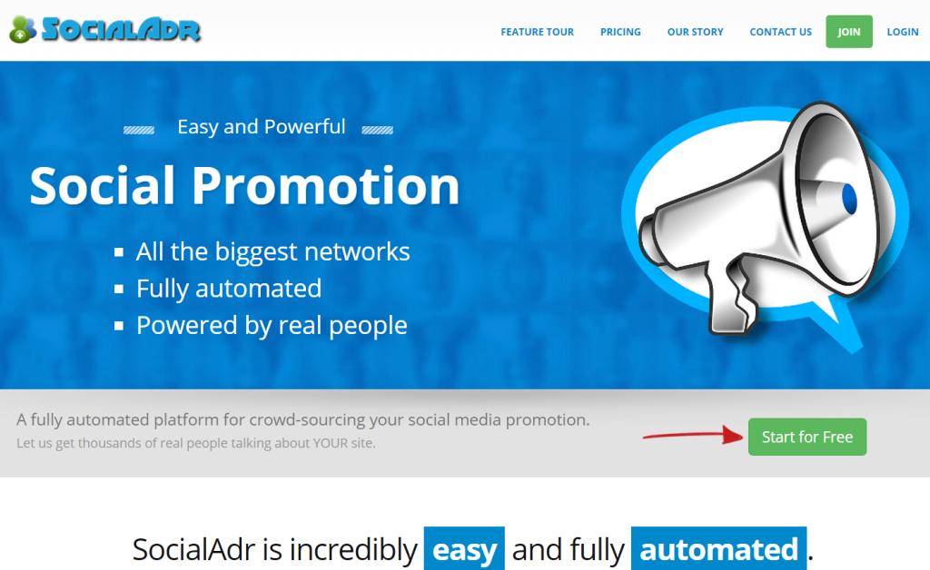 SocialAdr Responsive Website