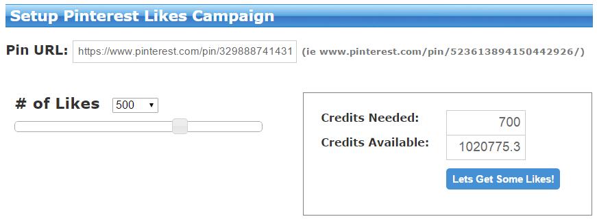 Setup Pinterest Likes Campaigns